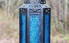 Blue Outdoor Lanterns