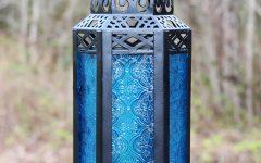 Blue Outdoor Lanterns