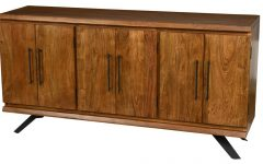 Light Brown Reclaimed Elm & Pine 84 Inch Sideboards