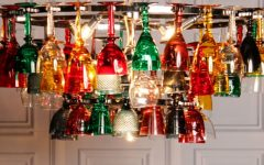 Coloured Glass Chandelier