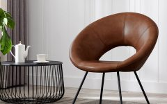 Coomer Faux Leather Barrel Chairs