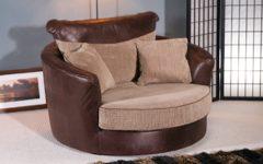 Cuddler Swivel Sofa Chairs