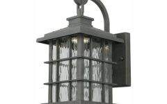 Edenfield Water Glass Outdoor Wall Lanterns with Dusk to Dawn
