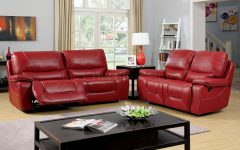 Red Leather Reclining Sofas And Loveseats