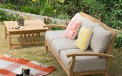 Summerton Teak Patio Sofas With Cushions