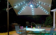 Sunbrella Patio Umbrellas with Solar Lights