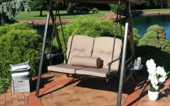 2-Person Adjustable Tilt Canopy Patio Loveseat Porch Swings