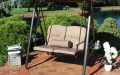 2-person Adjustable Tilt Canopy Patio Loveseat Porch Swings