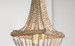 Turquoise Wood Bead Chandeliers