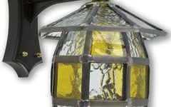 Faunce Beveled Glass Outdoor Wall Lanterns