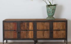 Metal Framed Reclaimed Wood Sideboards