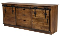 Natural Mango Wood Finish Sideboards