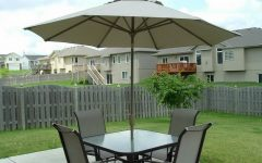 Patio Table and Chairs with Umbrellas
