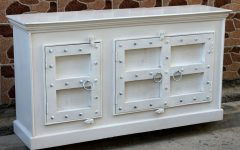 White Wash Carved Door Jumbo Sideboards