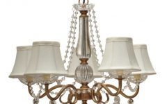 Chandelier with Shades and Crystals