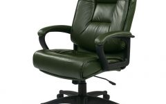Green Leather Executive Office Chairs