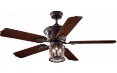 Bronze Outdoor Ceiling Fans with Light