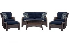 Patio Conversation Sets With Blue Cushions