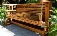 Hardwood Porch Glider Benches