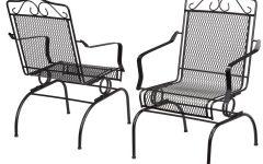 Iron Rocking Patio Chairs