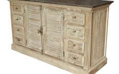 White Wash 4-Door Sideboards