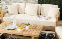 Lakeland Teak Patio Sofas with Cushions