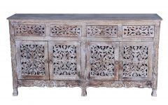 Carved 4 Door Metal Frame Sideboards