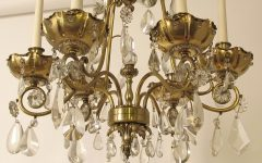 Brass and Crystal Chandeliers
