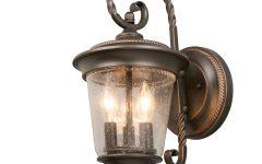 Cowhill Dark Bronze Wall Lanterns