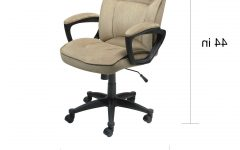 Light Beige Microfiber Executive Office Chairs