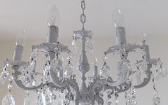 Grey Crystal Chandelier