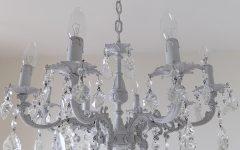 Grey Crystal Chandelier