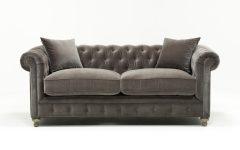 Mansfield Graphite Velvet Sofa Chairs