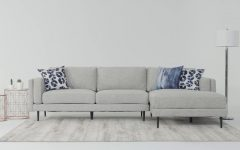 Aquarius Light Grey 2 Piece Sectionals With Raf Chaise