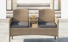 Lublin Wicker Tete-a-tete Benches