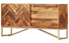 "Lucienne 46.5"" Wide 3 Drawer Sheesham Wood Drawer Servers"
