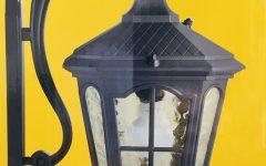Manteno Black Outdoor Wall Lanterns with Dusk to Dawn