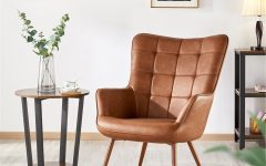 Marisa Faux Leather Wingback Chairs