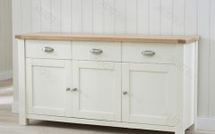 3-door 3-drawer Metal Inserts Sideboards