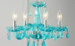 Turquoise Blue Chandeliers