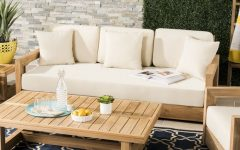 Montford Teak Patio Sofas With Cushions