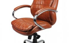 Black Leather Faced Executive Office Chairs