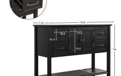 "Jeffords 43.3"" Wide 4 Drawer Pine Wood Drawer Servers"