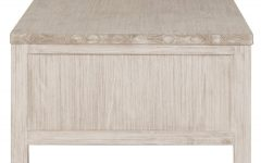 White Wash 2-Drawer/1-Door Coffee Tables