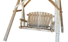 2-person Natural Cedar Wood Outdoor Swings