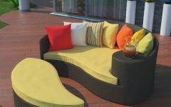 Greening Outdoor Daybeds with Ottoman & Cushions