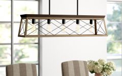 Delon 5-light Kitchen Island Linear Pendants