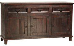 "Hargrove 72"" Wide 3 Drawer Mango Wood Sideboards"