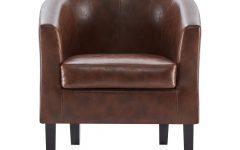 Ansar Faux Leather Barrel Chairs