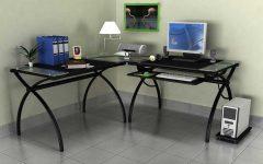Glass Corner Computer Desks